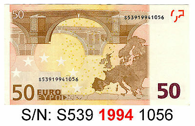 Good Luck Amulet Talisman Zodiac Fortune Money €50 Fifty Euro ECB Banknote Bill