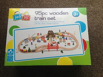95pc Wooden Train Set (compatible with leading brands)