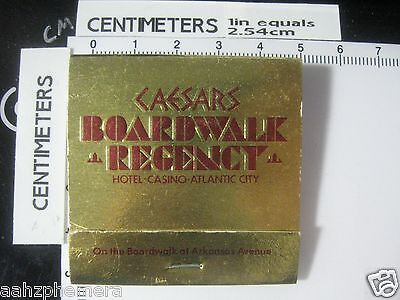 Vintage Caesars Boardwalk Regency Atlantic City NJ Matchbook