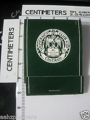 Vintage University Club of Chicago Illinois IL Matchbook