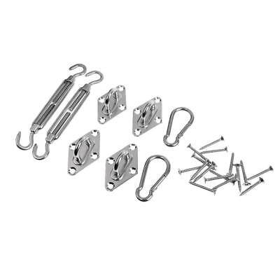 304 Stainless Steel Shade Sail Accessories Turnbuckles Pad eyes Snap Hooks