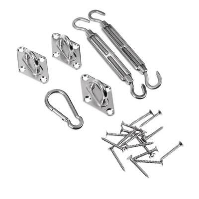 304 Stainless Steel Triangle Shade Sail Accessories Turnbuckles Snap Hooks
