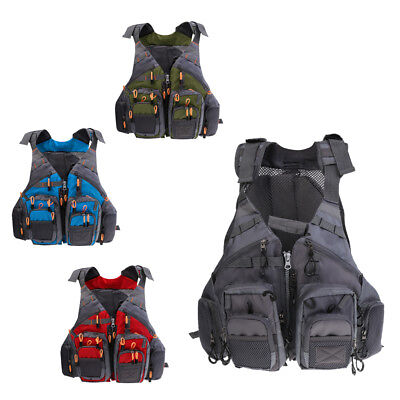 Floating Fishing Vest Multi-pocket Adjustable Size Chest Mesh Fishing Vest