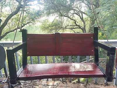 Metal Hanging Patio Porch Swing Chair Outdoor Home Furniture Yard rustic