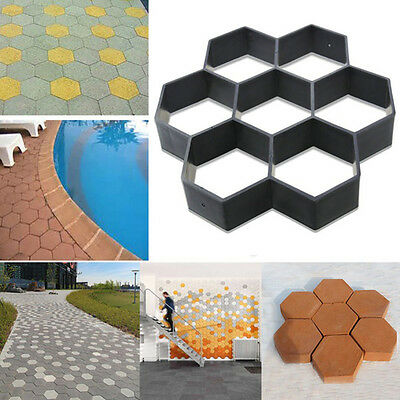 Brand New DIY Patio Driveway Concrete Stepping Stones Path Maker Paving Molds