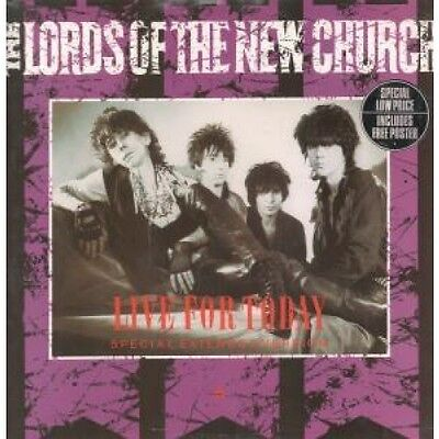 """LORDS OF THE NEW CHURCH Live For Today 12"""" VINYL UK Irs 1983 3 Track Limited"""