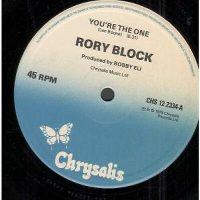 """RORY BLOCK You're The One 12"""" VINYL UK Chrysalis 1979 2 Track B/w If I Can't"""
