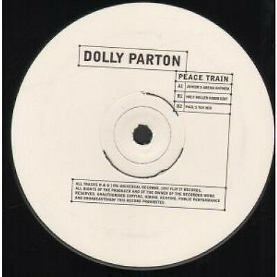 "DOLLY PARTON Peace Train 12"" VINYL UK Universal 1996 3 Track Promo Featuring"