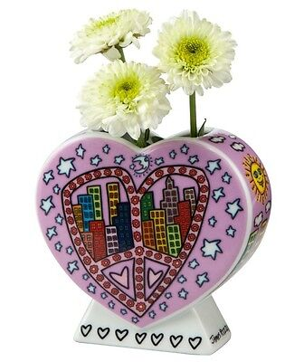 "James Rizzi ""PEACE AND LOVE IN MY CITY"" GOEBEL - Vase - Kollektion 2014"