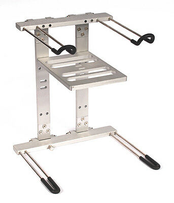 SWAMP LS200 Deluxe Heavy Duty DJ Laptop Stand with Interface Tray - Dual Tier