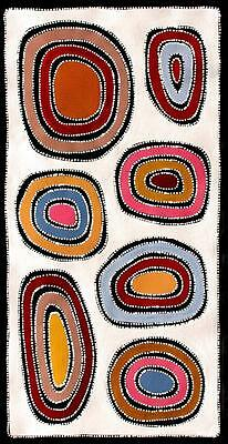 Aboriginal Art Painting by Sally Clark 55cm X 110cm