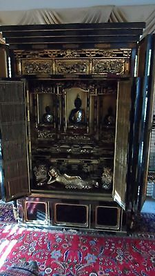 Large Antique Meiji Lacquered Shrine/Cabinet