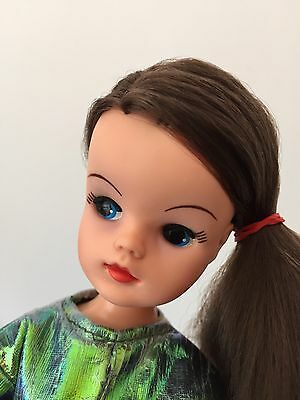Gorgeous Vintage 1984 Starlight Sindy Doll with Long Crimped Brunette Hair