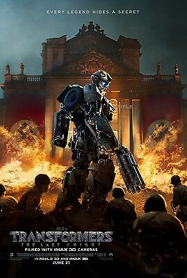 Transformers The Last Knight 2017 Movie Poster A1 plus large Print