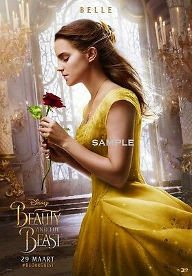 Belle Beauty and the Beast 2017 A1 plus large 24x36 inches Movie Poster Print