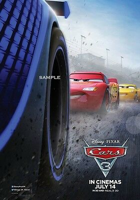 Cars 3 version 3 A1 plus large 24x36 inches Movie poster print