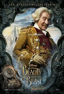 Beauty and the Beast 2017 Cogsworth A1 plus 24x36 inche large Movie Poster Print