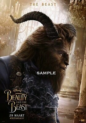 Beast Beauty and the Beast 2017 A1 plus 24x36 inches large Movie Poster Print