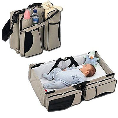 3 in 1 Portable Crib Changing Station Travel Bassinet Baby Travel bed Diaper Bag