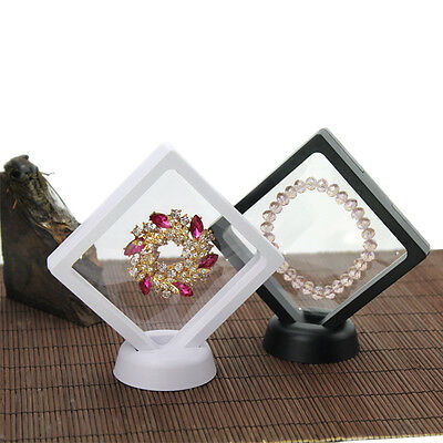 Jewellery Suspended Floating Display Case Coins Gems Artefacts Stand Holder Box