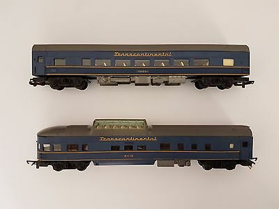 TRI-ANG Train Transcontinental Set of 2 Carriages vintage great price