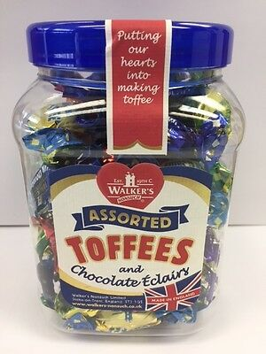 WALKERS NONSUCH Assorted Toffees and Chocolate Eclairs Gift Jar 450g