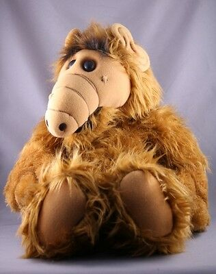 """Vintage 1986 TALKING ALF Alien Large Coleco 16"""" Soft Plush Toy Doll RARE Working"""