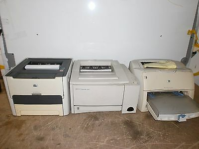 Job Lot 3 X Hp Printer 1320N 2100 1200 Usb Network Monochrome - Good Toner - !!