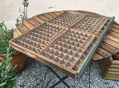 Vintage French Printers Tray Letterpress