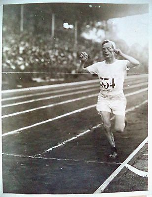 Olympic Games 1924 – Albin Stenroos Winning The Marathon Gold Medal Photograph
