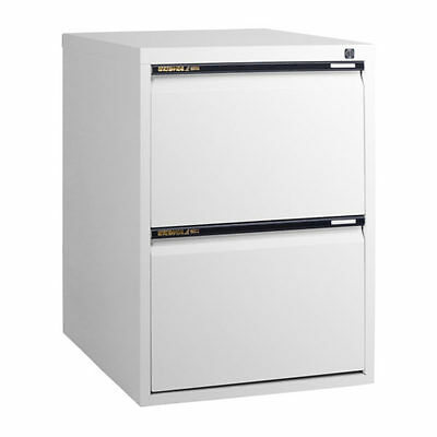 NEW 2 Drawer STATEWIDE  White Metal Filing Cabinet