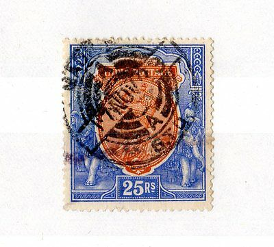 India KGV 1923 25 Rupees SG219 CDS Fine Used X7032