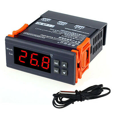 220V LCD Microcomputer Temperature Controller Relay Temp Thermostat with Sensor