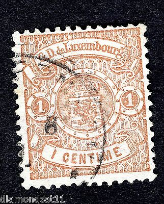 1874 Luxembourg 1c Brown SG 57a FINE USED R23500