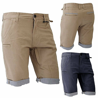 27698ce7bf Mens Brave Soul Cargo Combat Casual Chino Pants Cotton Shorts Fitted Half  Pant M