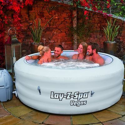 Bestway Vegas Inflatable Lay Z Spa Portable Hot Tub Jacuzzi Massage Pool