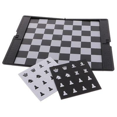 Travel Magnetic Chess Wallet Set Portable Wallet Pocket Chess Board Games