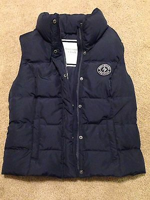 Abercrombie and Fitch Logo Down Puffer Vest Navy Size Youth Large EUC!!!!!!!!!!!