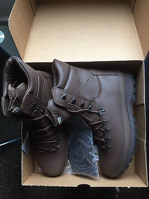 British Army Altberg Defender Brown Combat Boots - Size 12M UK (New)