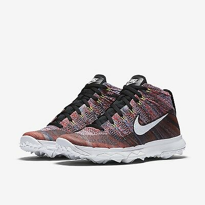 Nike Women's Flyknit Chukka Golf Shoes Size 7 New Spike-less Boot Multi-Color