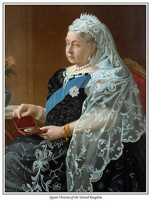 QUEEN VICTORIA OF THE UNITED KINGDOM PRINT NOW AVAILABLE AS CANVAS PRINT,TOO !!