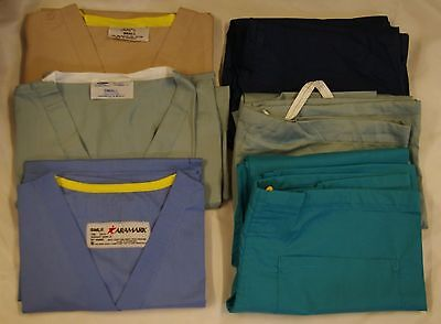 48 pc mixed Wholesale lot Unisex Reversible Scrub Top & Pants Small