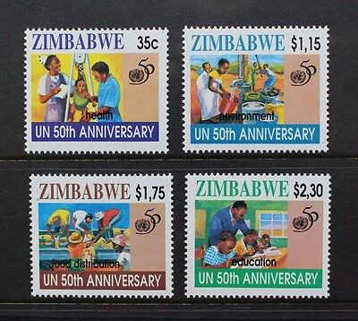ZIMBABWE 1995 United Nations 50th Anniversary Set of 4 Mint Never Hinged SG914/7