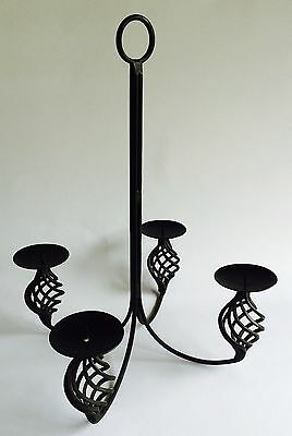 Vintage Wrought Iron Chandelier Candle Holder, Vintage Iron Candle Holder