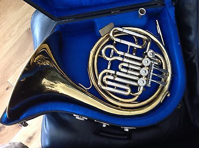 Anborg F/Bb Compensating Double Horn + Case and Mouthpiece. Serviced