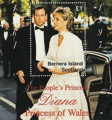 The People's Princess Diana Princess Of Wales Bernera Island Scotland Mnh Stamp