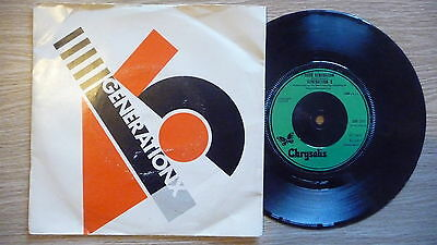 "GENERATION X -Your Generation 7"",1977.Punk Rock,Billy Idol,Sex Pistols,The Clash"