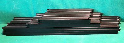 """Genuine & Official Micro Scalextric Track - Straights x8 Long 15"""" Med 9"""" Sml 6"""""""