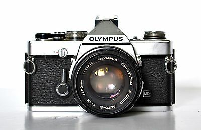 Olympus OM1n 35mm SLR Film Camera with 50mm lens