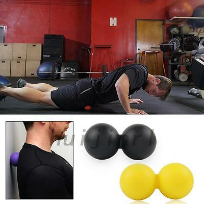 Double Peanut Massage Lacrosse Balls For Muscle Recovery Trigger Point Relief